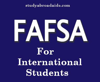 FAFSA for International Students