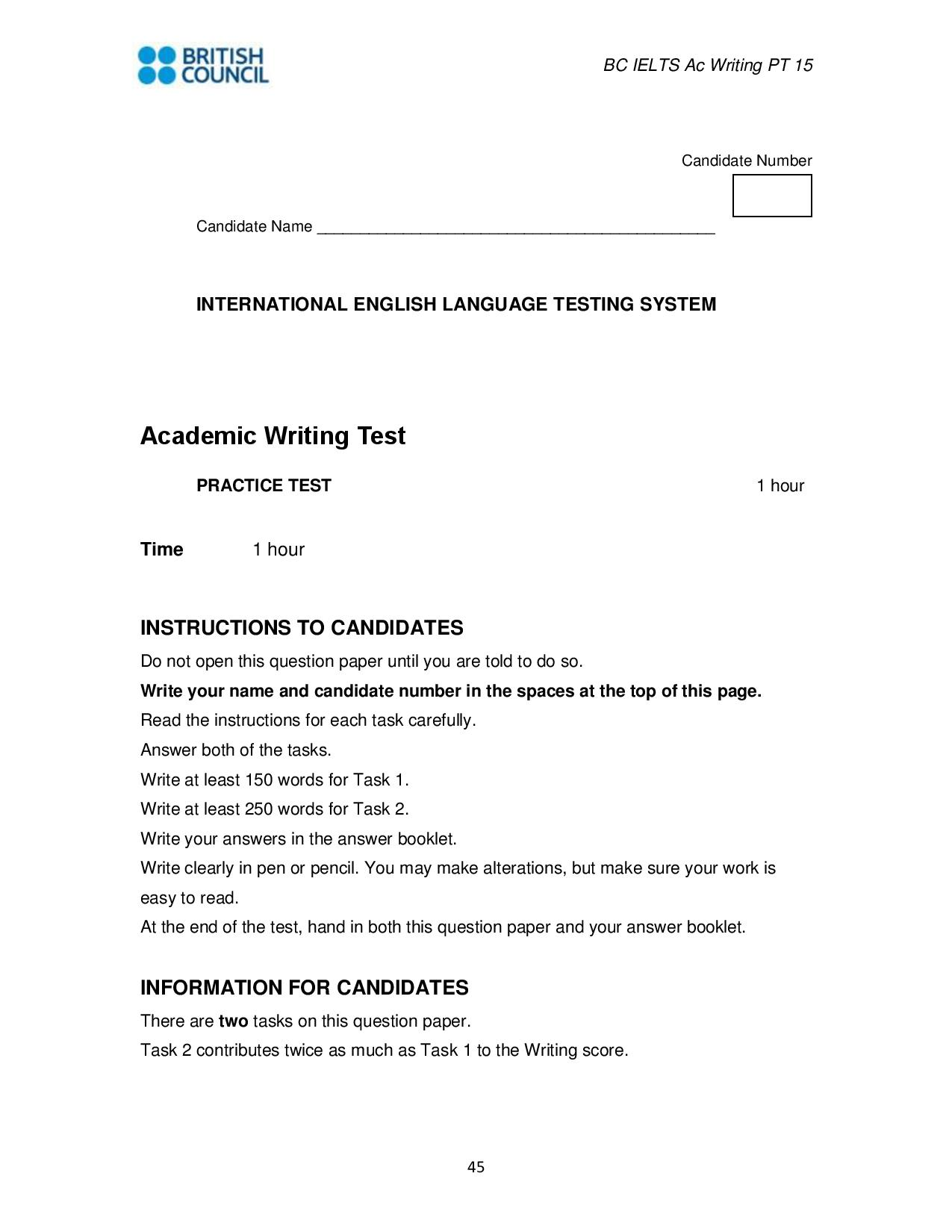 IELTS Writing Practice
