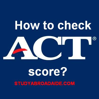How to check my ACT score