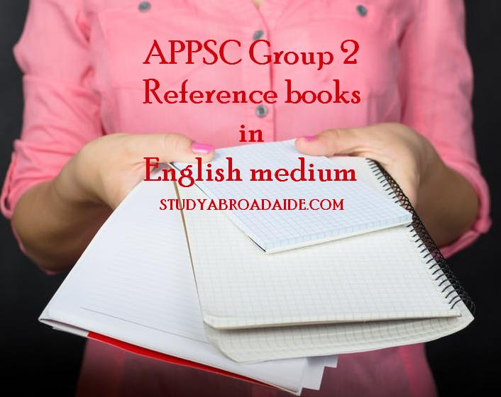 APPSC Group 2 reference books in English medium