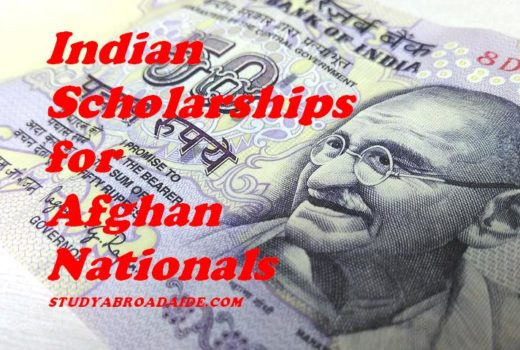 Indian scholarships for Afghanistan