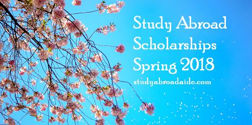 Study Abroad scholarships spring 2018
