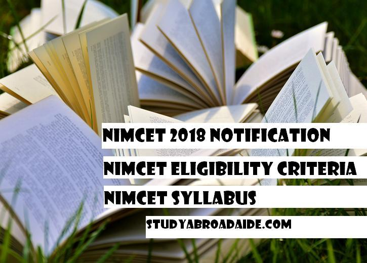 NIMCET 2018 Notification