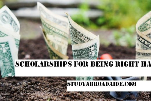 Scholarships for being Right Handed