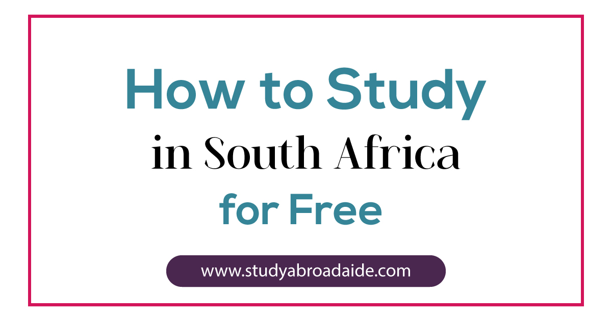 study South Africa free