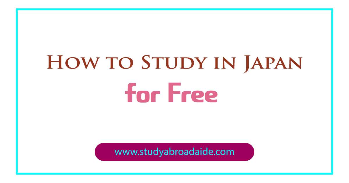 Study in Japan for Free