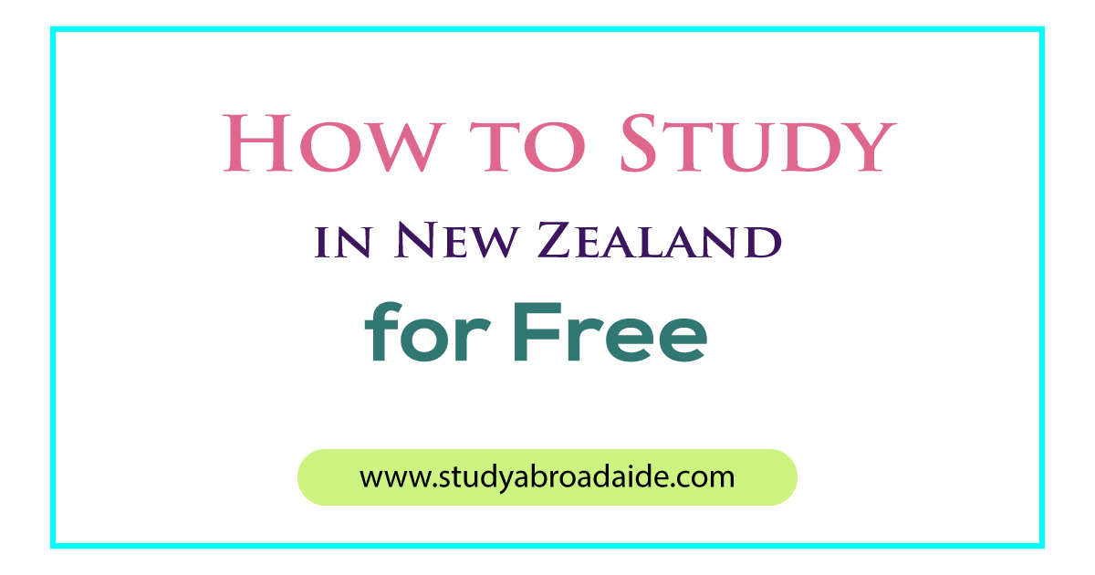 Study in New Zealand for Free