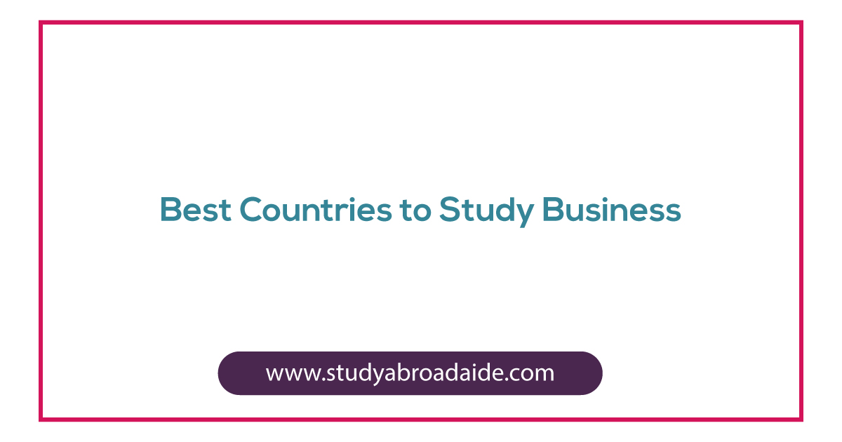 Best Countries to study business
