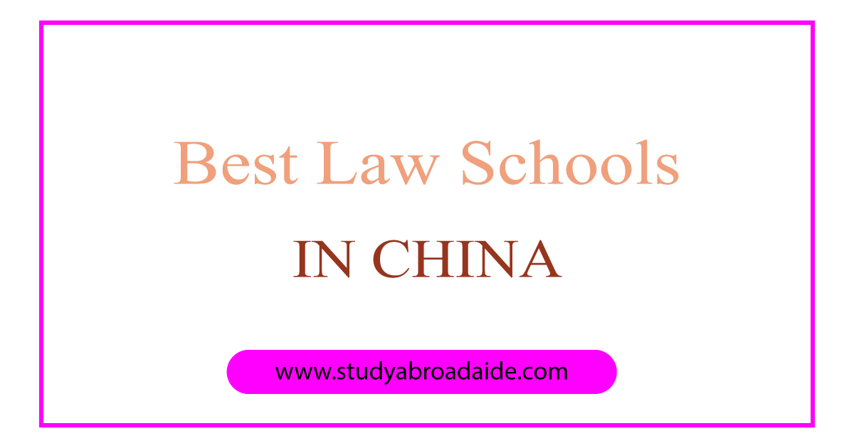 best law schools in China