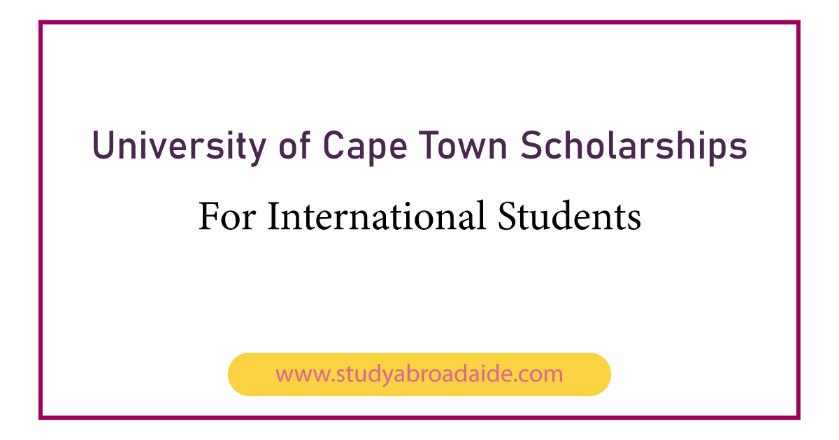University of Cape Town Scholarships for International Students